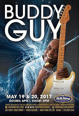 BUDDY GUY 2017 NEW YORK CONCERT TOUR POSTER-Blues Rock, Chicago / Electric Blues