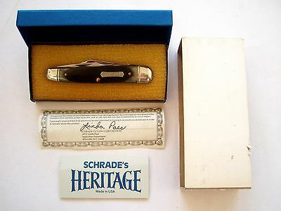 Original Usa Made Schrade Heritage 8041G  Whittler  Knife