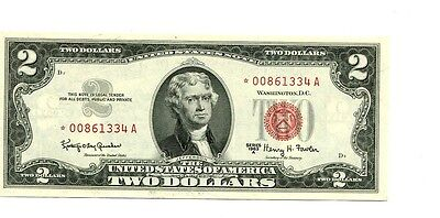 1963 A $2 Red Seal Currency Star Note Ch Cu 4778G