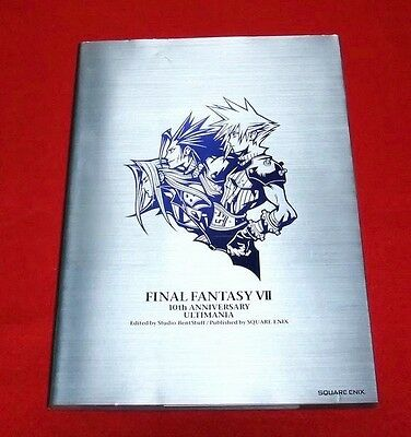 Final Fantasy VII 7 10th Anniversary Ultimania Book Art FF Japan