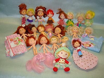 Lot of 21 Strawberry Shortcake Dolls Kenner 80s? Plus Misc.