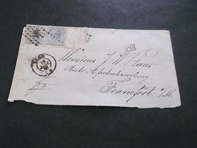 Belgium 1867 Cover To Germany     Rs
