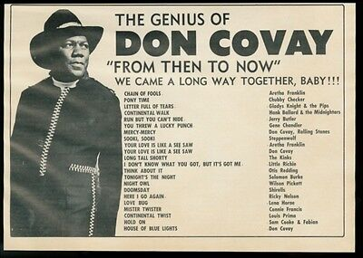 1969 Don Covay photo and list of his songs vintage music trade print ad