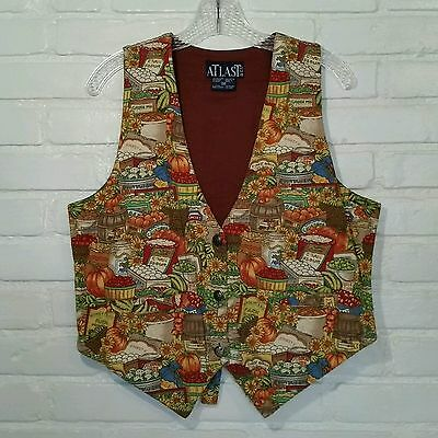 Vintage 90s Farmers Market Harvest Vest Brown Womens Medium At Last & Co.