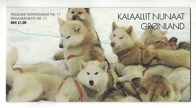 2003 Greenland Sled Dogs Booklet SG 422/4 12 stamps