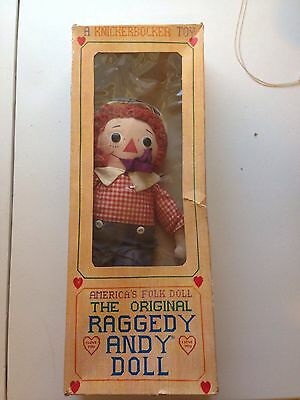 Vintage Original Raggedy Andy Doll Knickerbocker Toys In Box Collectible