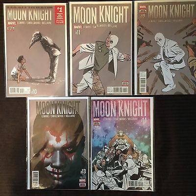 Moon Knight #10 to 14 (2017) NM Complete Marvel Comics