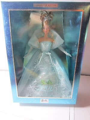 2001 BARBIE COLLECTOR Edition Sea BLUE GOWN Highly Collectible