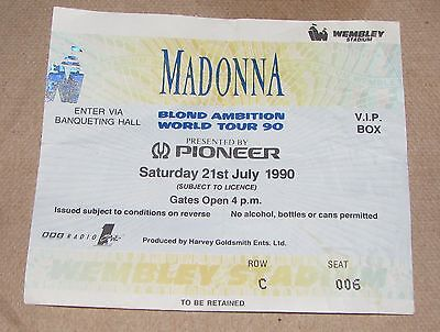 Madonna Personal Collection 1990 Blond Ambition Tour Ticket VIP *RARE*