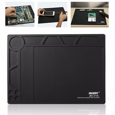 "Desktop Anti Static ESD Heat Insulation Mat 10""x14"" For Phone PC Tablet Repair"