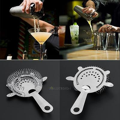 Stainless Steel Ear Hawthorne Cocktail Drink Strainer Mixer Bar Home Mixology