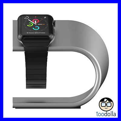 NOMAD Desktop Stand - solid anodised aluminium for Apple Watch, Silver