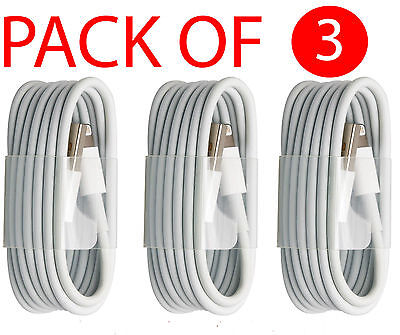 3 Pieces USB Sync Charger Cable Cord For Apple iPhone7 6S 6 5C 3.3ft USPS SHIP