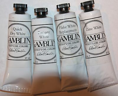 Gamblin Oil Paint-COOL WHITES SET all series 1