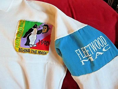 "ORIGINAL 1990 FLEETWOOD MAC ""BEHIND THE MASK"" TOUR SWEATSHIRT (L) ""RARE""-nice"