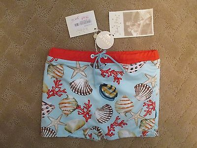 NWT Rachel Riley Boys Swim Shorts/Trunks Sea Shell Size 8Y
