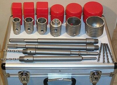 "6 concrete core drill bits Spline SDS max SDS plus 2"", 2 1/2"", 1 1/2"",1 3/4"" etc"