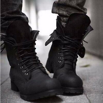 Retro Men's high-top Combat boots Winter fashionable short shoes Hiking Outdoor
