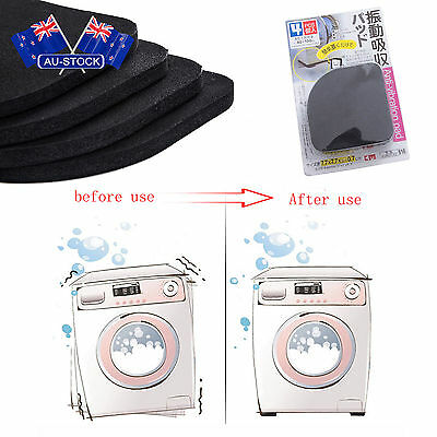 Non-slip Mat Refrigerator Anti-vibration Washing Machine Shock Pads 4PCS CQ0852