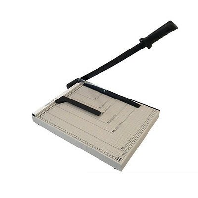 """Adjustable B4 15"""" x 12""""  Paper Cutter Guillotine Blade Metal Base for Office New"""