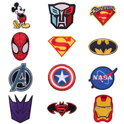 1pcs Cartoon Embroidered Iron On Patch Cloth Patch Sew Applique for Kids