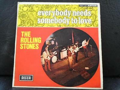 """The Rolling Stones """"everybody Needs Sombody To Love"""" French Ex+ Cond.in Pic Sl."""