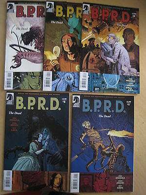 B.P.R.D.:The DEAD :COMPLETE 5 ISSUE SERIES by MIKE MIGNOLA,JOHN ARCUDI,GUY DAVIS