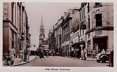 Inverness-shire  RP  Inverness High Street Animated Street Scene ,Boots
