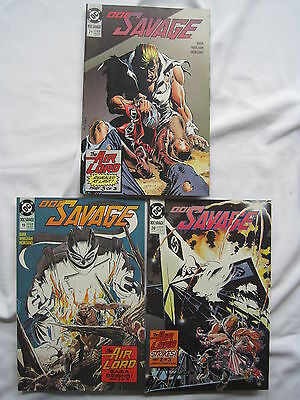 "DOC SAVAGE #s 19,20,21 : ""The AIR LORD SAGA"" - COMPLETE 3 ISSUE STORY. DC. 1990"