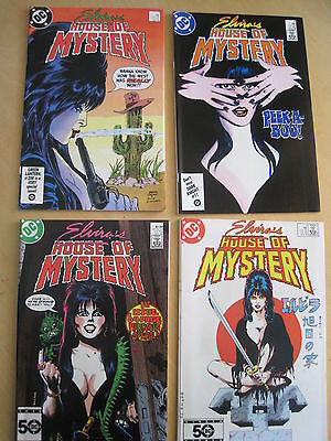 ELVIRA'S HOUSE of MYSTERY :COMPLETE 11 ISSUE 1986 DC SERIES +SPECIAL except # 10