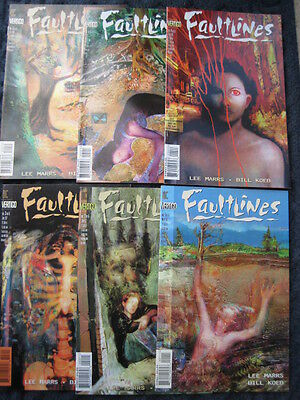 FAULTLINES - COMPLETE 6 ISSUE SERIES by LEE MARRS & BILL KOEB. DC.VERTIGO.1997