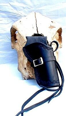 Western Cowboy Holster 4 3/4 Cross Draw Cowboy Single Action  Black Leather