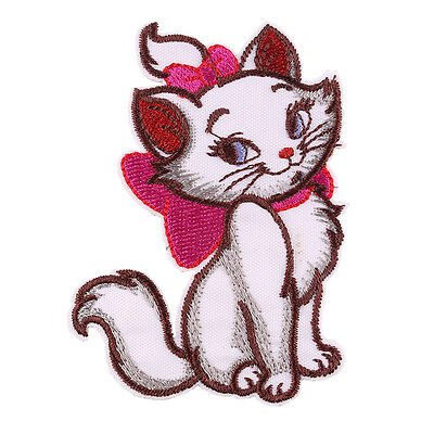 The Marie Cat Embroidered Iron/Sew ON Patch Cloth Applique 3.3x2.5""
