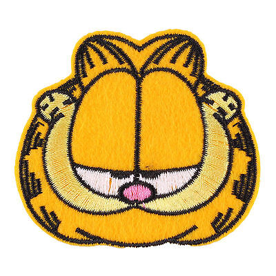 New 1pcs Garfield Cat Fabric Embroidered Iron/Sew On Patch for kids Clothes
