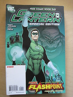 GREEN LANTERN : SPECIAL EDITION : RARE FREE COMIC DAY by JOHNS & REIS. DC. 2011