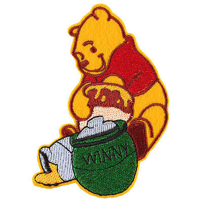 """The Winnie the Pooh Bear Embroidered Iron/Sew ON Patch cloth Applique 4.1""""X 3.5"""""""
