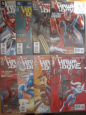 HAWK & DOVE  1,2,3,4,5,6,7,8 cmplt  by ROB LIEFELD &  GATES. DC.THE NEW 52. 2012