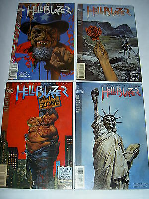 HELLBLAZER #s 72 - 75: DAMNATION'S FLAME complete 4 part story by ENNIS & DILLON