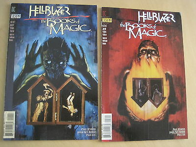 HELLBLAZER / The BOOKS of MAGIC : COMPLETE 2 ISSUE SERIES. JENKINS. 1997.VERTIGO