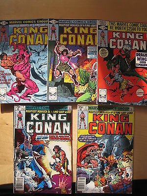 KING CONAN : complete RUN of #s 1,2,3,4,5 by ROY THOMAS & BUSCEMA. MARVEL.1980