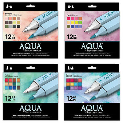 Crafters Companion Spectrum Noir Aqua Markers - Artists Water Based Markers
