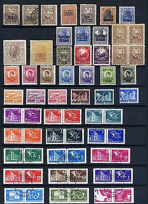 Romania early 1900's small collection used and mounted mint