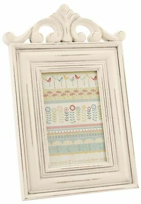 Antique Cream Scroll Wooden Photo Frame