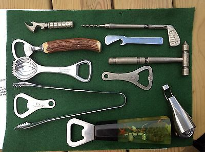 A Selection Of Old Bottle Openers And Vintage Bar Tools