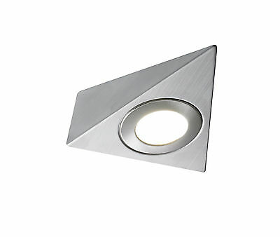 Led Mains Triangle Light Kitchen Under Cabinet Cupboard Fitting Cool Warm White