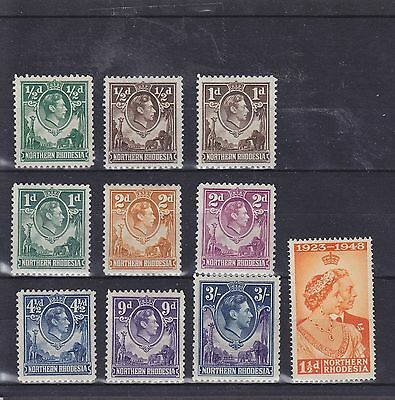Northern Rhodesia KGVI Mounted Mint Collection