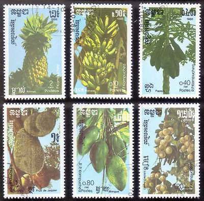 CAMBODIA/KAMPUCHEA (14/1) 1986 Fruits Banana 6 Diff. Stamps ! Gift Children !