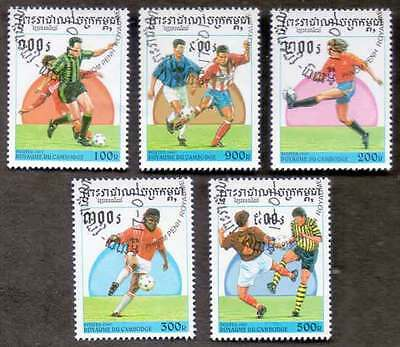 CAMBODIA/KAMPUCHEA (46/1) 1997 Football Sports Game 5 Diff. Stamps !