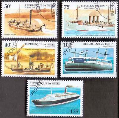 BENIN (07/1) 1995 Ships Transports 5 Diff. Stamps ! Gift Your Children !