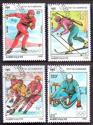 CAMBODIA/KAMPUCHEA (33/1) 1990 Olympic Games Sports 4 Diff. Stamps !